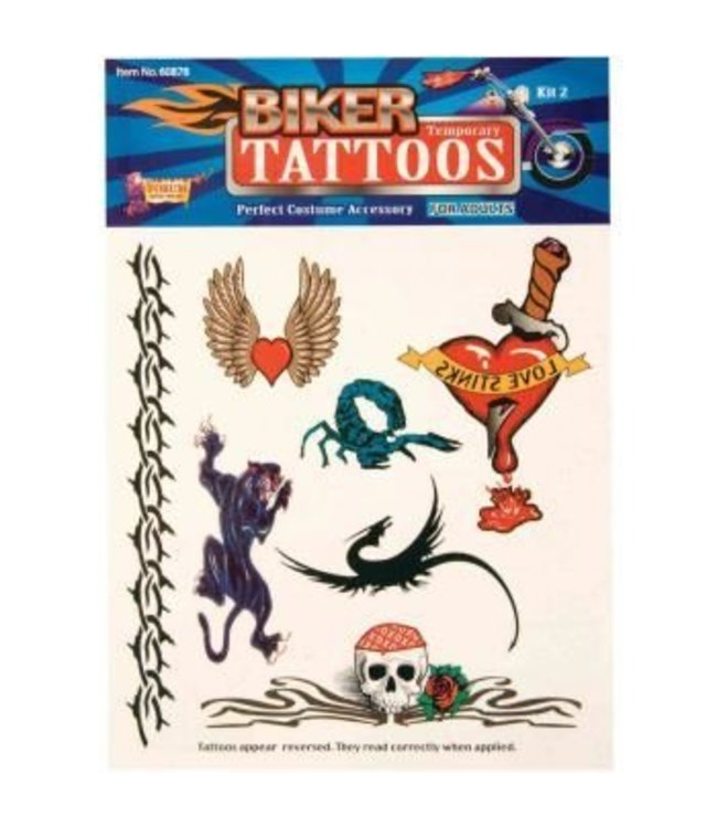 Forum Novelties Biker Temporary Tattoos #2