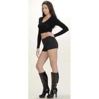 Forum Novelties Hot Little Black Shorts Size 8-10