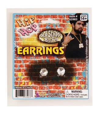 Forum Novelties Big Diamond Stud Earrings (C4)