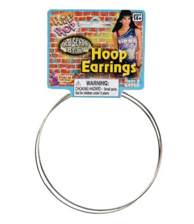 Forum Novelties Jumbo Silver Hoop Earrings (C4)