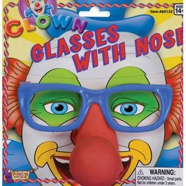 Forum Novelties Clown Glasses With Nose