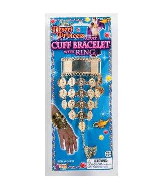 Forum Novelties Desert Princess Cuff Bracelet with Ring