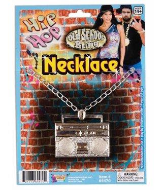 Forum Novelties Boom Box Necklace - Silver (C4)