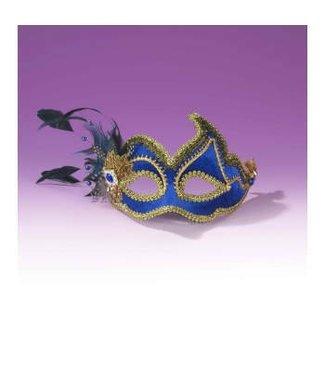 Forum Novelties Fancy Half Mask - Blue