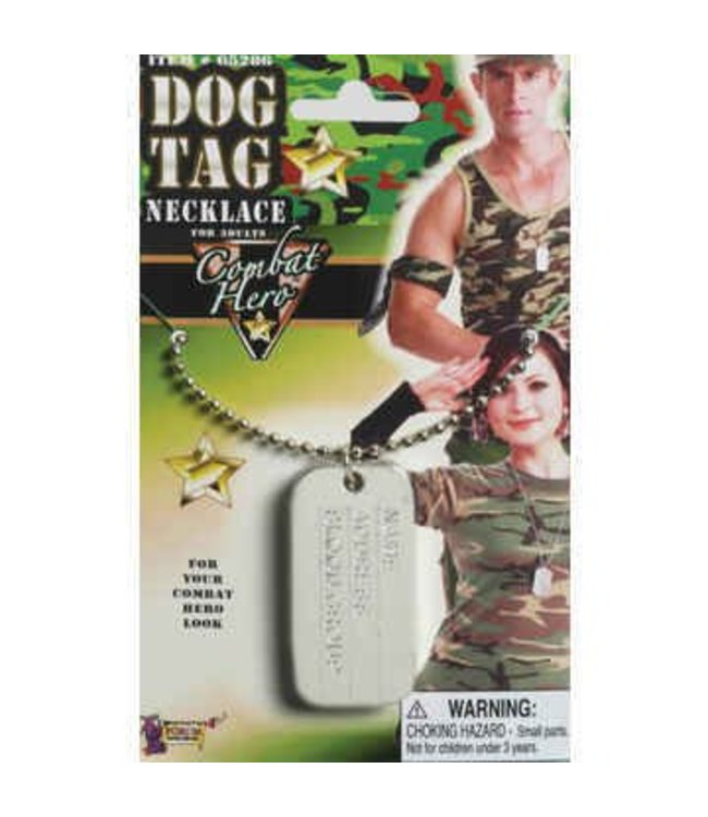 Forum Novelties Dog Tag With Chain (C12)