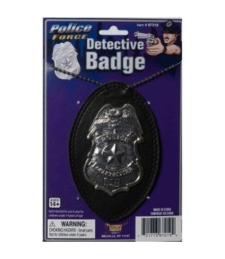 Forum Novelties Detective Badge On Chain (C12)
