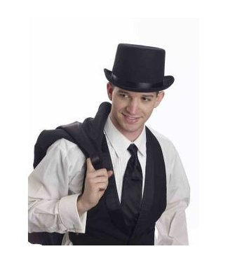 Forum Novelties Super Deluxe Top Hat, Wool Like - Black
