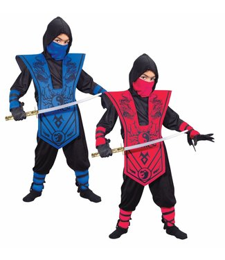 Fun World Complete Red Ninja - Child Large 12-14