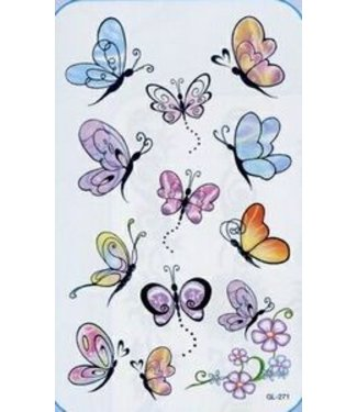 Facinating Butterflies Glitter Tattoos by Johnson And Mayer