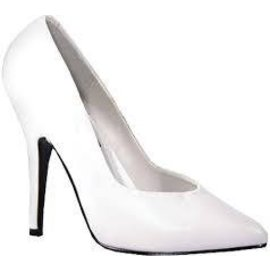 Shoes - Pumps 4 Inch Heel  White Size 7 by Ellie Shoes