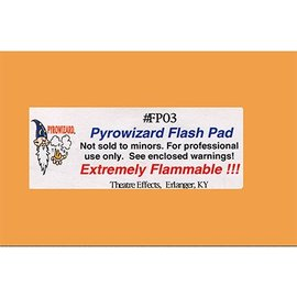 Pyrowizard Flash Pad #FP03 - 2x3 20 sheets by Theater Effects Inc.
