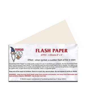 Flash Paper, White 4 Sheets 8.5 x 9 Inch by Theater Effects Inc.