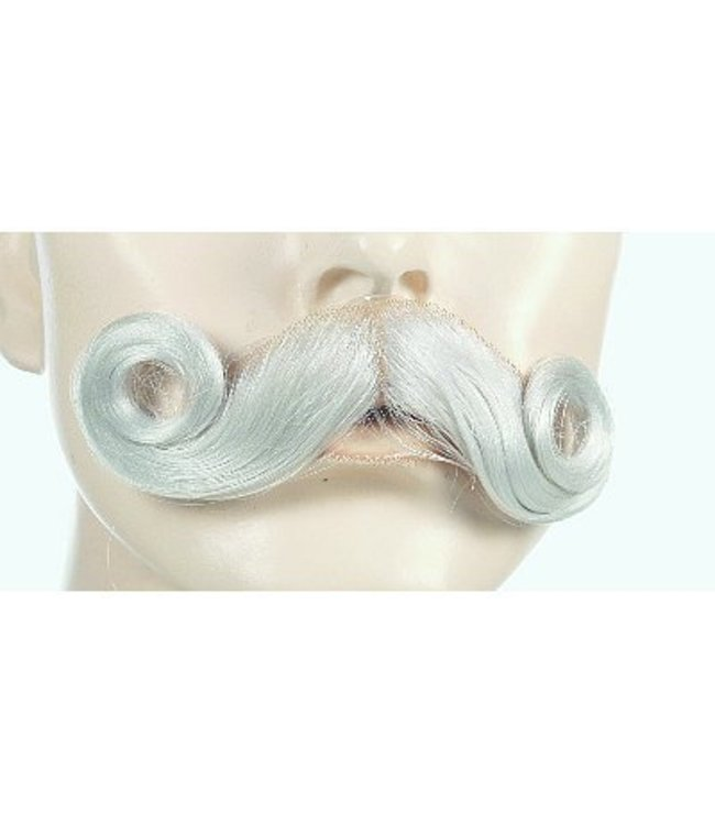 Morris Costumes and Lacey Fashions Moustache Santa, White - Yak Hair