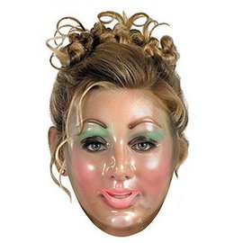 Disguise Transparent Young Woman Mask
