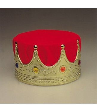 Crown King - Deluxe, Red/Gold by Jacobson Hats