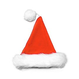 Halco Santa Hat Velvet Plush Red
