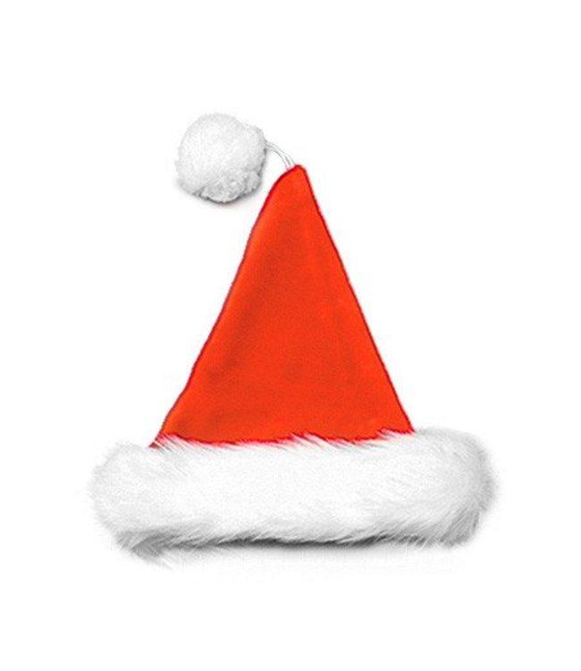 Halco Santa Hat Velvet Plush Red