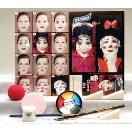 Graftobian Make-Up Company Clown Theatrical Make-Up Kit (C3)