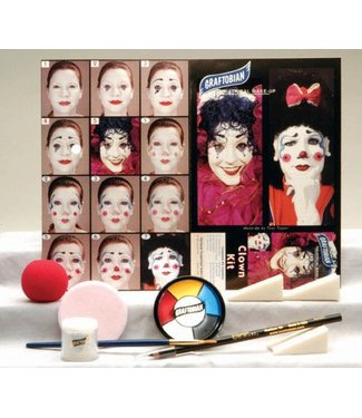 Graftobian Make-Up Company Clown Theatrical Make-Up Kit (C3)