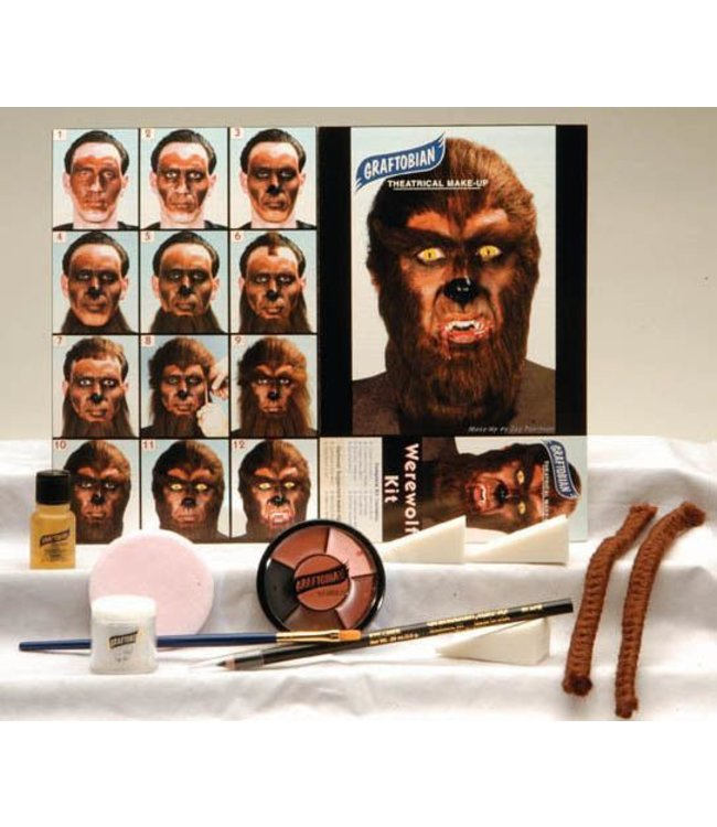 Graftobian Make-Up Company Werewolf Theatrical Make-Up Kit (C3)