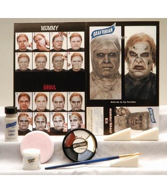 Graftobian Make-Up Company Zombie / Mummy Theatrical Make-Up Kit (C3)