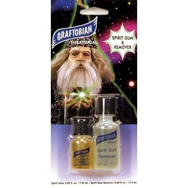 Graftobian Make-Up Company Spirit Gum and Spirit Gum Remover Combo Pack 1/4 oz.  1/2 oz.