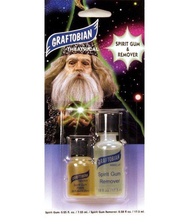 Graftobian Make-Up Company Spirit Gum and Spirit Gum Remover Combo Pack 1/4 oz.  1/2 oz. by Graftobian