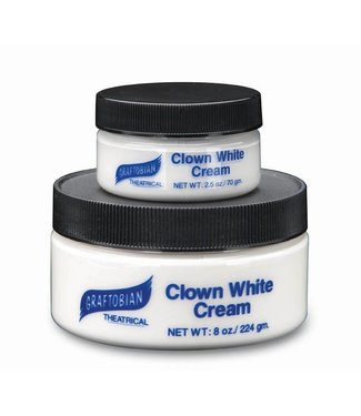Graftobian Make-Up Company Clown White Cream 8 oz.