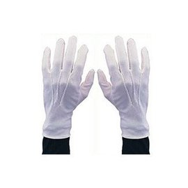 Morris Costumes and Lacey Fashions White Gloves with Snap XLG