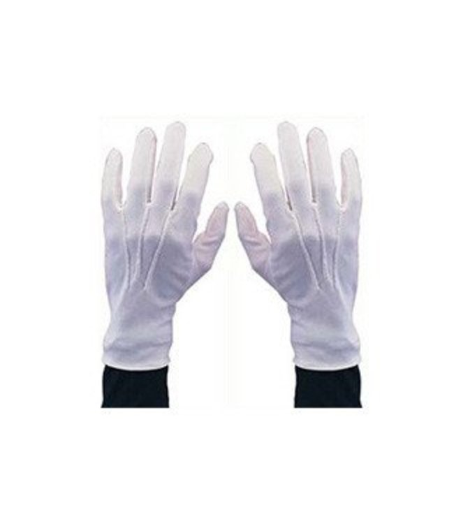 Morris Costumes and Lacey Fashions White Gloves with Snap XLG by Morris Costumes