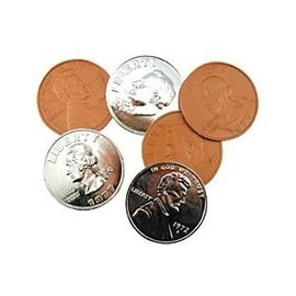Jumbo Coin Plastic Assorted (M10)