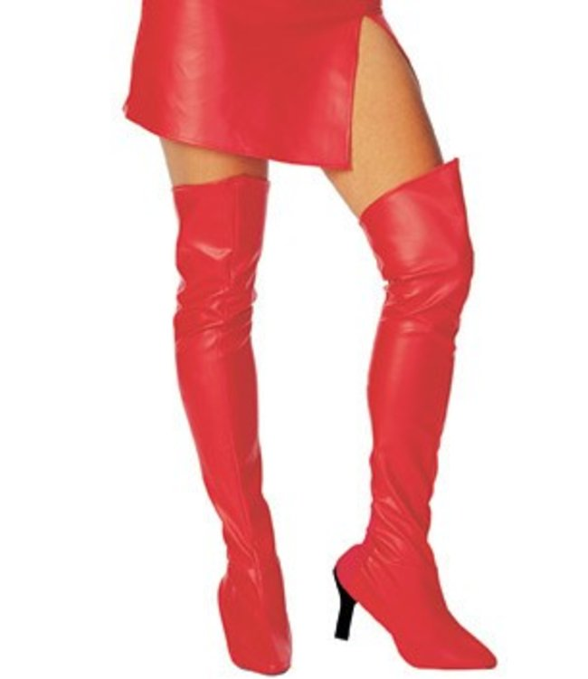 Rubies Costume Company Thigh High Boot Tops - Red
