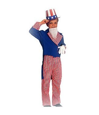 Rubies Costume Company Uncle Sam Child Large 12-14