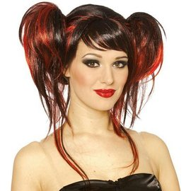 Costume Culture by Franco American Devil Do Wig - Red & Black