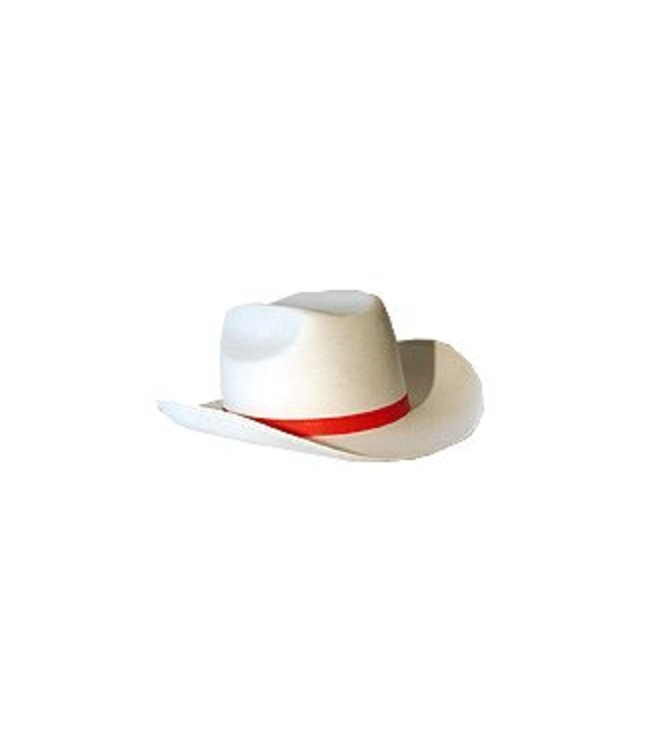 Cowboy Hat - White, Large by Jacobson Hats