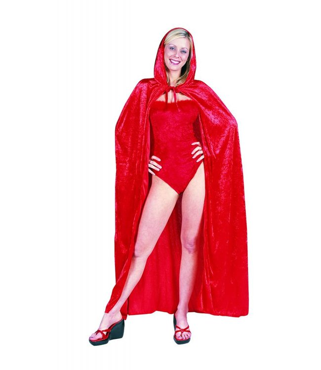 RG Costumes And Accessories 56 inch Red Velvet Hooded Cape