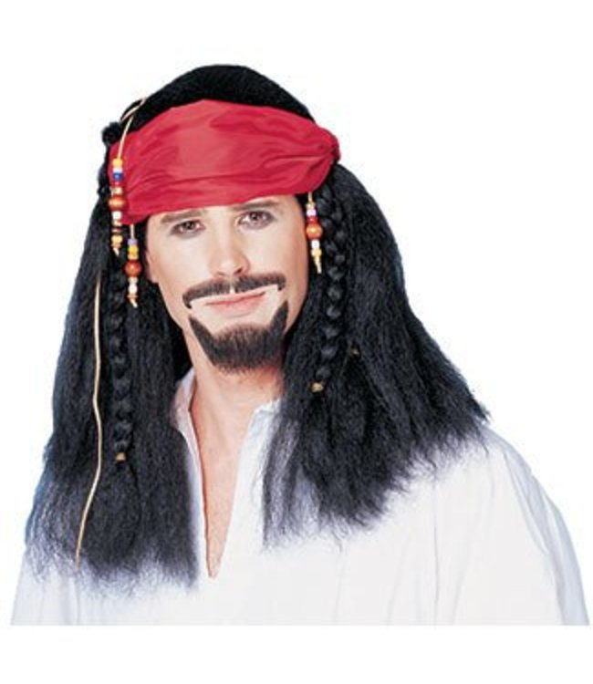 Costume Culture by Franco American Buccaneer with Beaded Bandana Wig