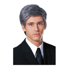 Costume Culture by Franco American Commander in Chief Wig grey mix