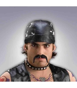 Forum Novelties Biker Moustache, Black