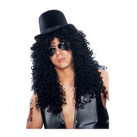Costume Culture by Franco American Deluxe Curly Rocker Wig
