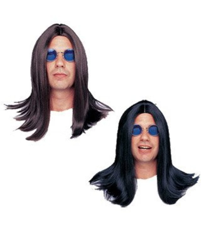 Costume Culture by Franco American Deluxe 18 inch Parted Wig Black