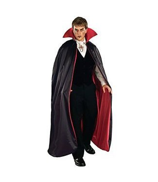 Forum Novelties Deluxe 56 inch Satin Reversible Cape - Black and Red