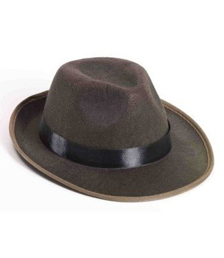 Forum Novelties Hat - Fedora, Brown