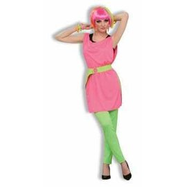 Forum Novelties 80s To the Max Hot Pink Tunic - Adult One Size 14-16