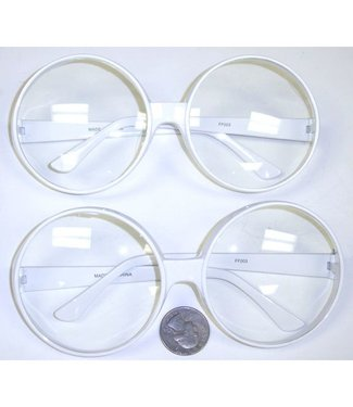 Big Rounders White Frame Glasses