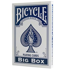 United States Playing Card Compnay Big Box Bicycle Cards, Blue (Jumbo Cards)