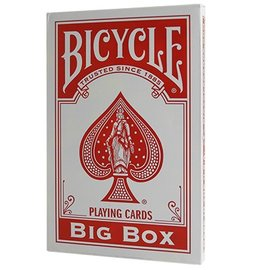 United States Playing Card Compnay Big Box Bicycle Cards, Red (Jumbo Cards)