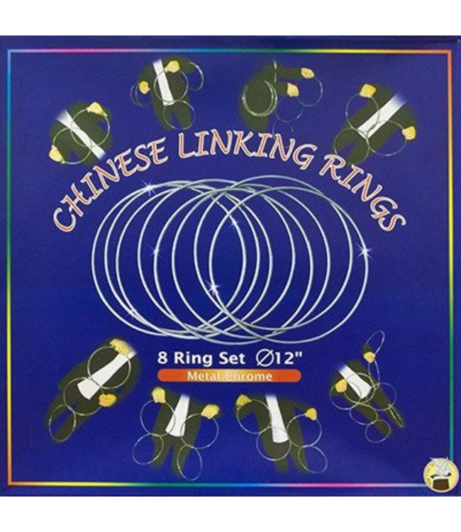 Chinese Linking Rings (12 inch- CHROME) by Vincenzo Difatta