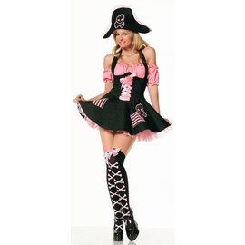 Pink Pirate Treasure, Adult Med by Costume Roads