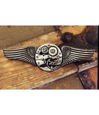 Elope Antique Gear Wings Pin by Elope